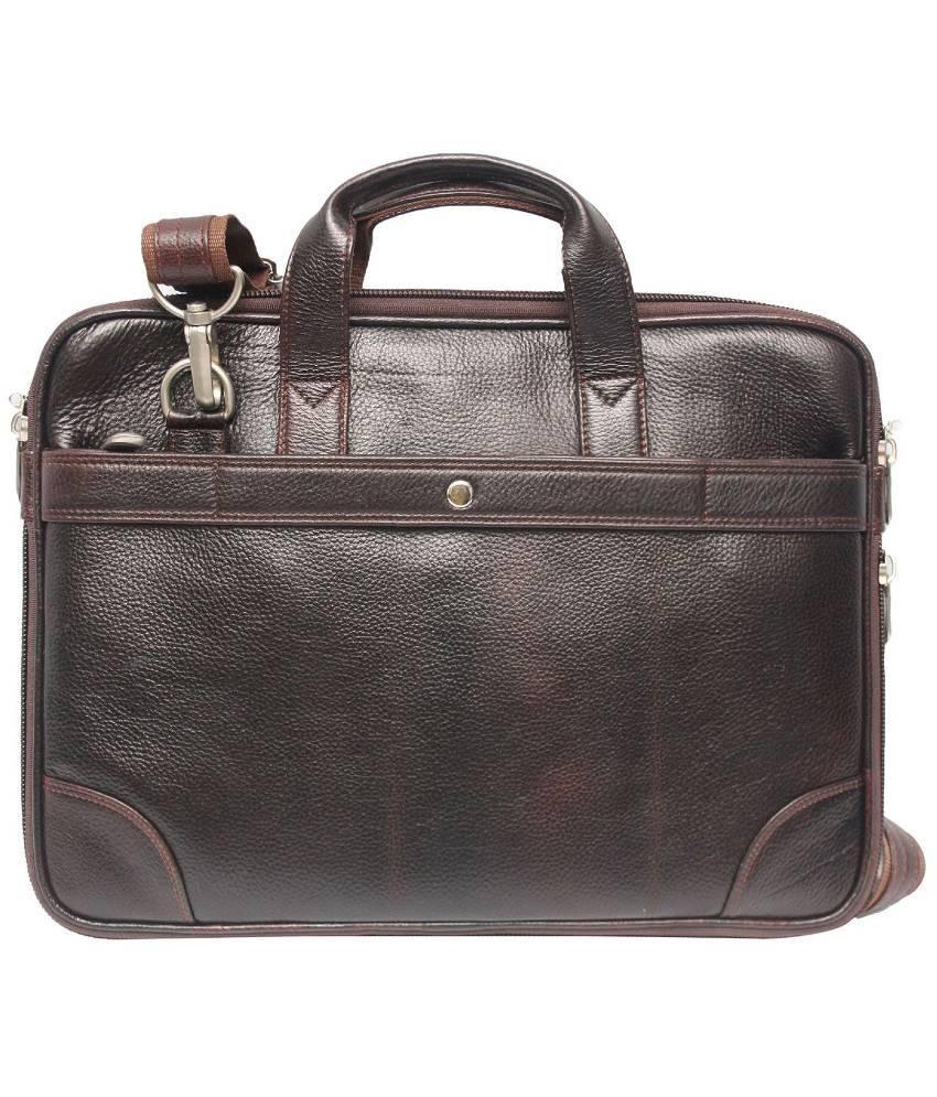 Bag Jack Medusae-I Brown Leather Office Messenger Bag