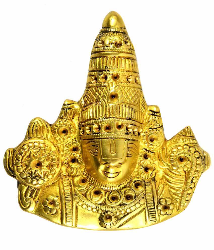 Craftuno Yellow Brass God Idol