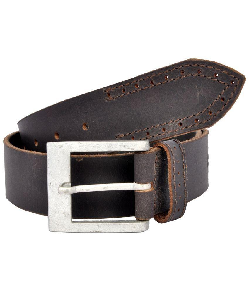 HI Brown Leather Belt for Men