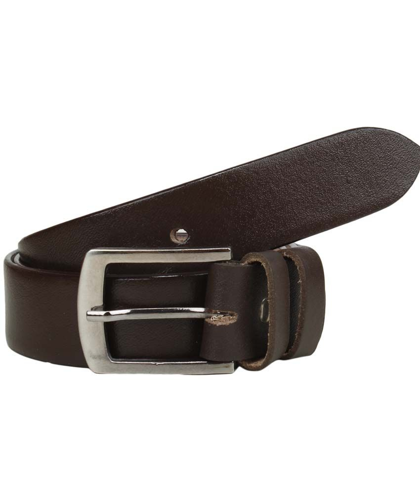 Mauri Brown Leather Formal Belt