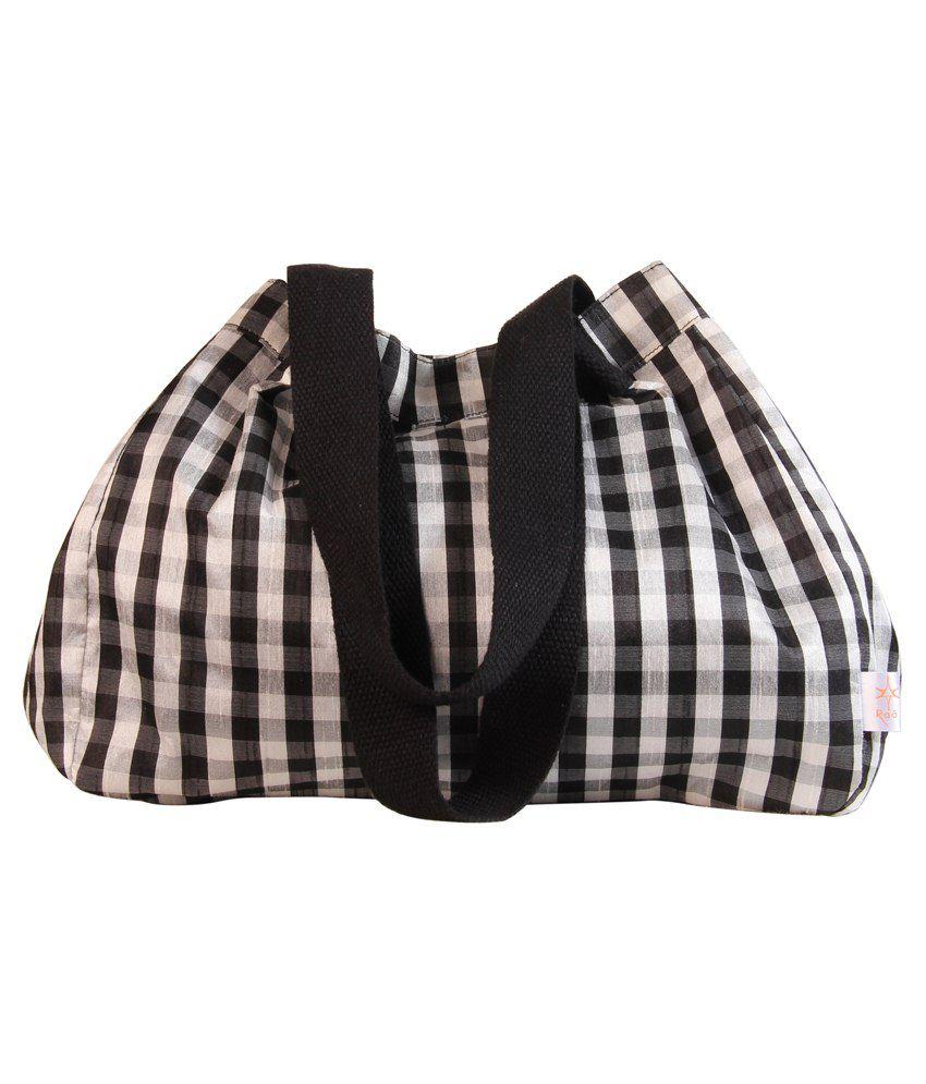 Raaa Black & White Potli Bag