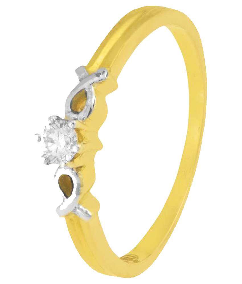 Sonalia Jewellers 18 Kt Gold Designer Diamond Ring