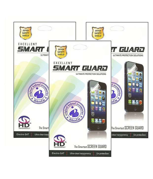 Behoof Clear Screen Guard For Sony Xperia Z1 - Pack Of 3
