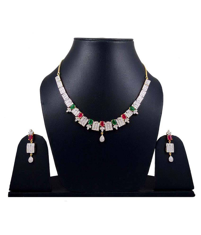 Hotpiper Silver Alloy Necklace Set