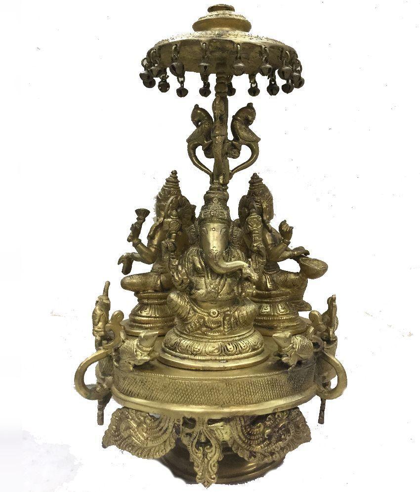 Indian Arts Museum Brass Ganesh And Laxmi Saraswati Idol