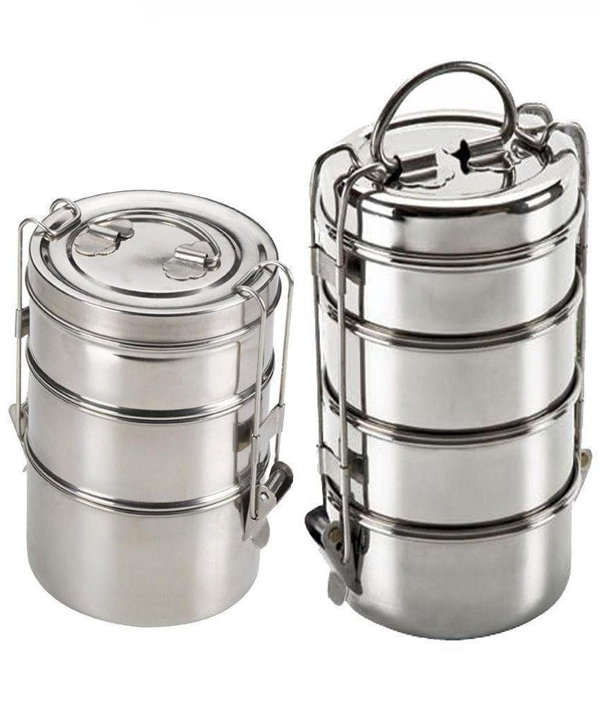 39a72768c King International Stainless Steel Tiffin Box Buy One Get One Free  Buy  Online at Best Price in India - Snapdeal