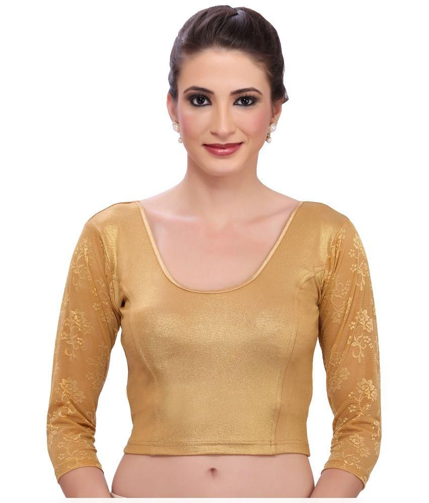 MSM Gold Stretchable Shimmer Blouses