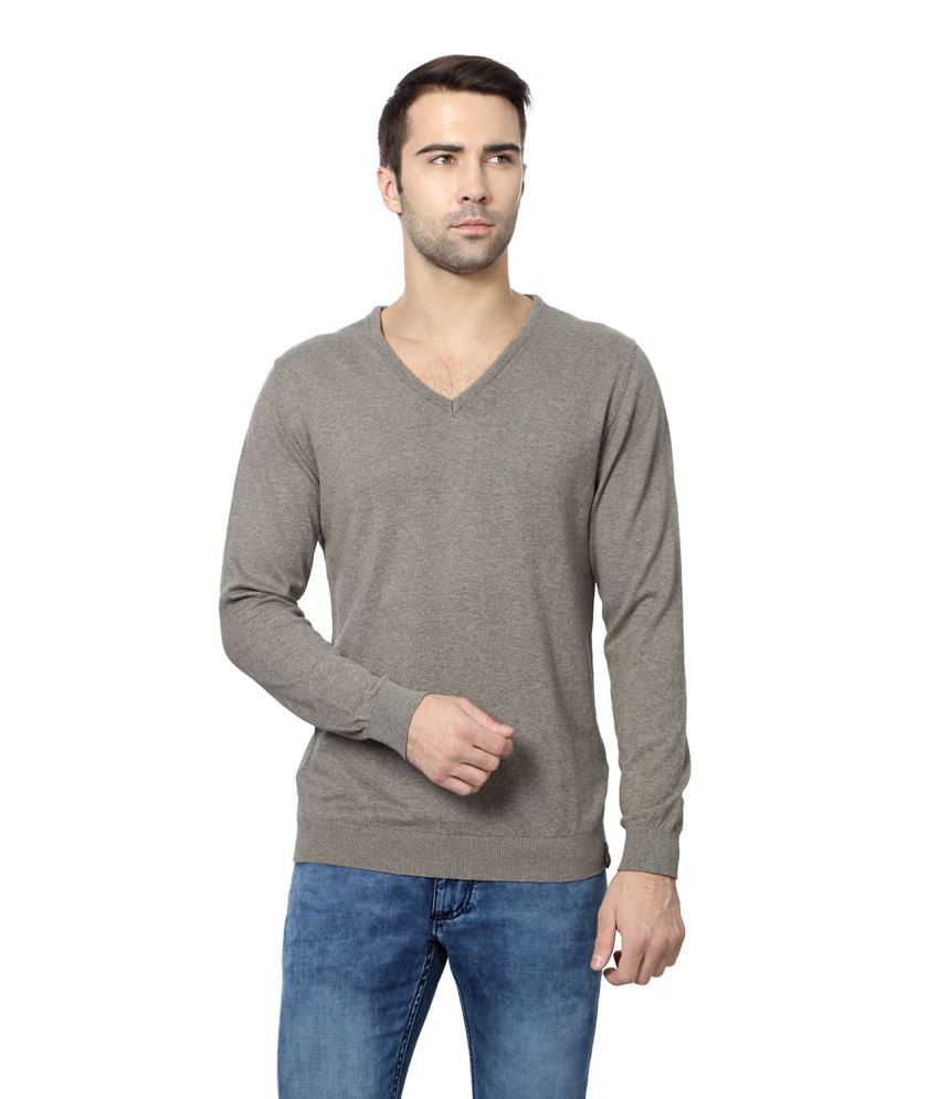 Peter England Brown Cotton Sweaters - Buy Peter England Brown ...