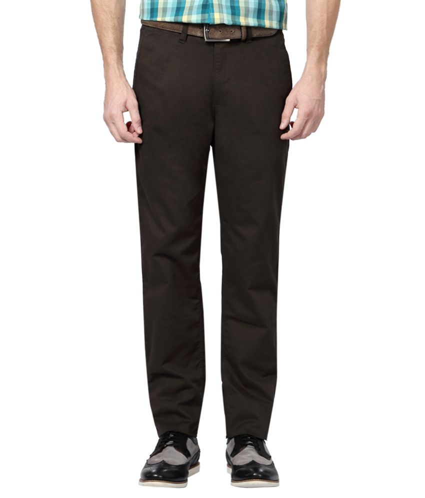 Van Heusen Brown Slim Fit Trousers