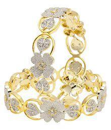Muchmore American Diamond Look Swarovski Made Bangle For Women Wedding Indian Jewelry OcNXG2fh13