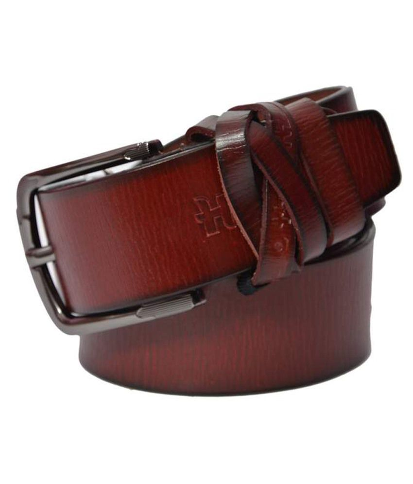 Ipg Brown Leather Belt For Men