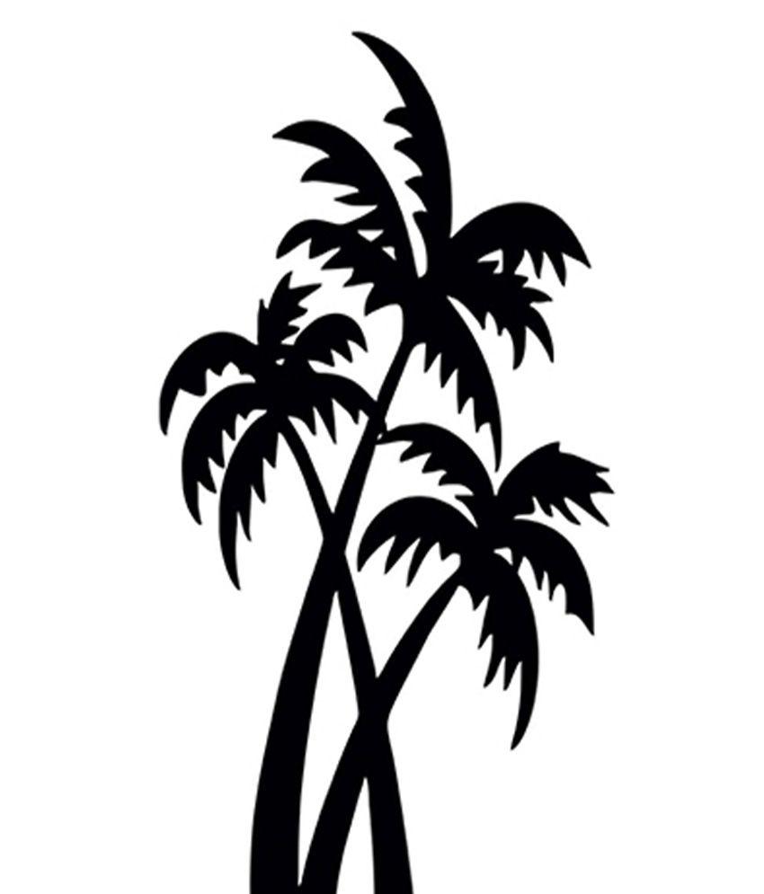 romanshopping black coconut tree design wall sticker buy