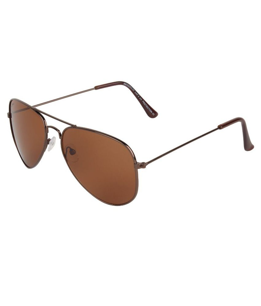 e828f62ba1626 David Martin Brown Medium Unisex Aviator Sunglasses - Buy David Martin  Brown Medium Unisex Aviator Sunglasses Online at Low Price - Snapdeal
