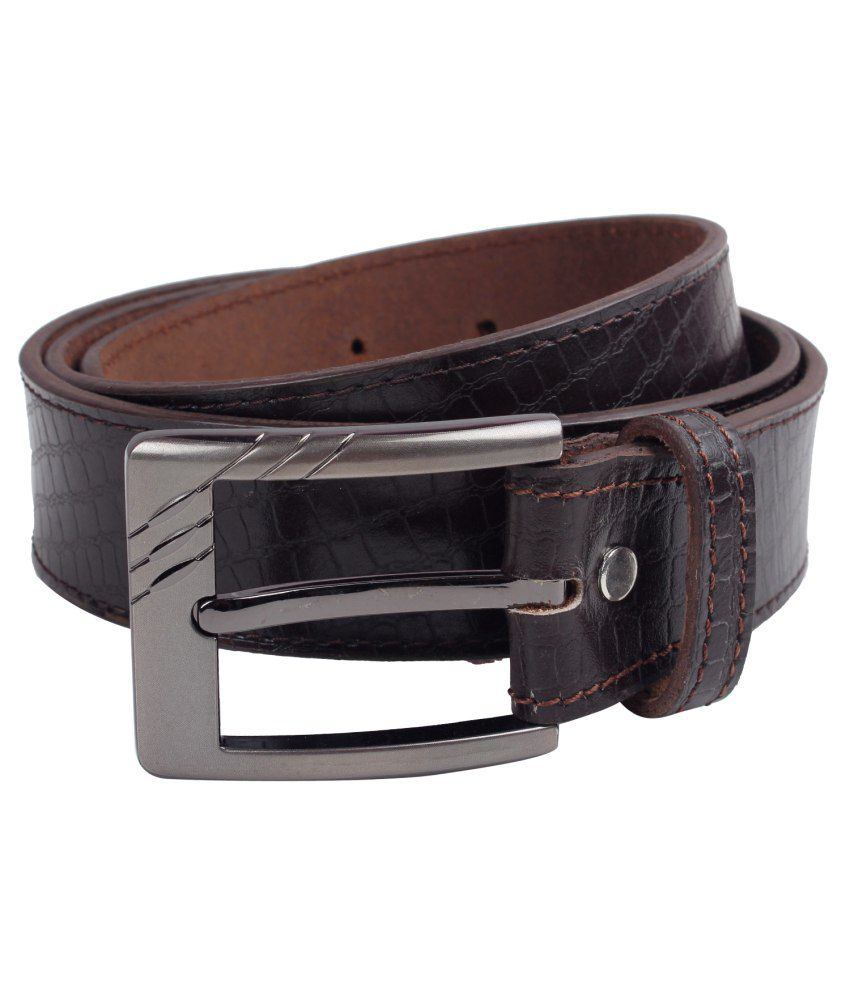 Exotique Brown Leather Belt