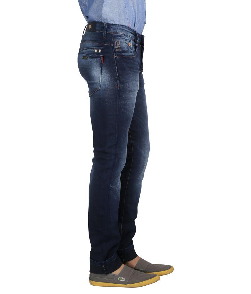 73a4844c Nostrum Jeans Navy Blue Slim Fit Jeans - Buy Nostrum Jeans Navy Blue ...