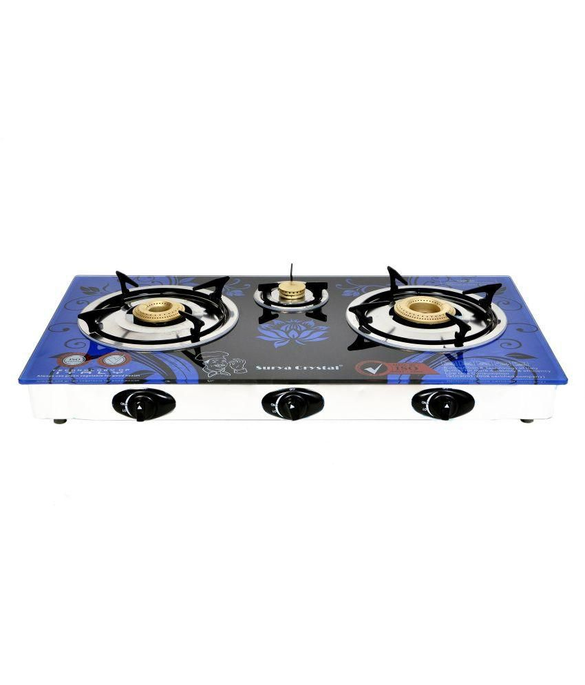 Surya Honey Automatic Gas Cooktop (3 Burner)
