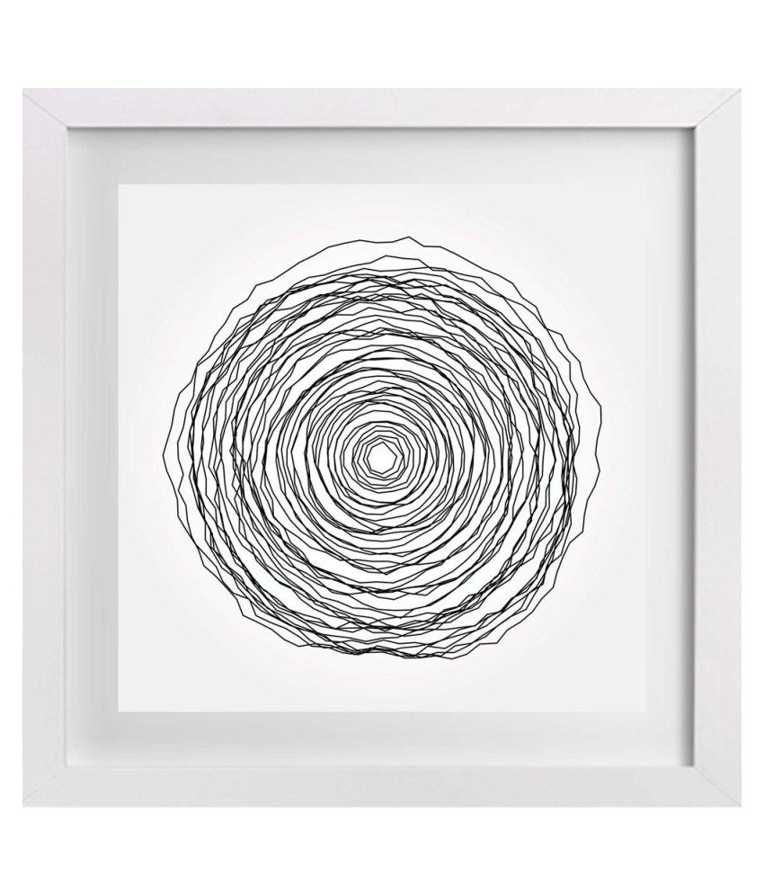 Artzfolio Matte Wooden Abstract Painting With Frame