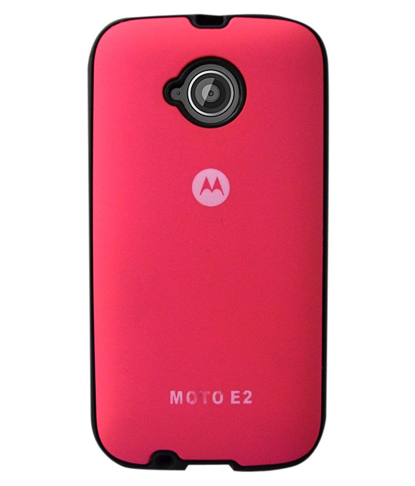 best sneakers ea772 40870 Coverage Back Cover For Motorola Moto E2 And Moto E ( 2nd Gen) - Pink