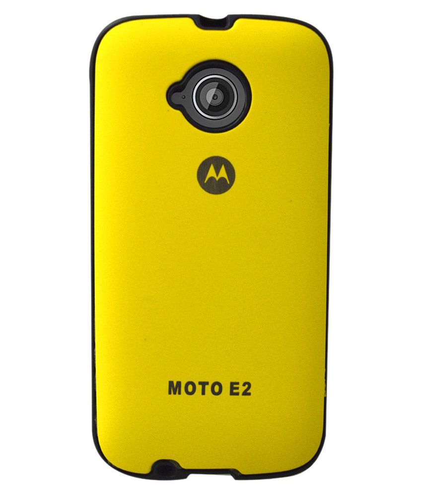 sports shoes 0971b e116c Coverage Back Cover For Motorola Moto E2 And Moto E ( 2nd Gen) - Yellow