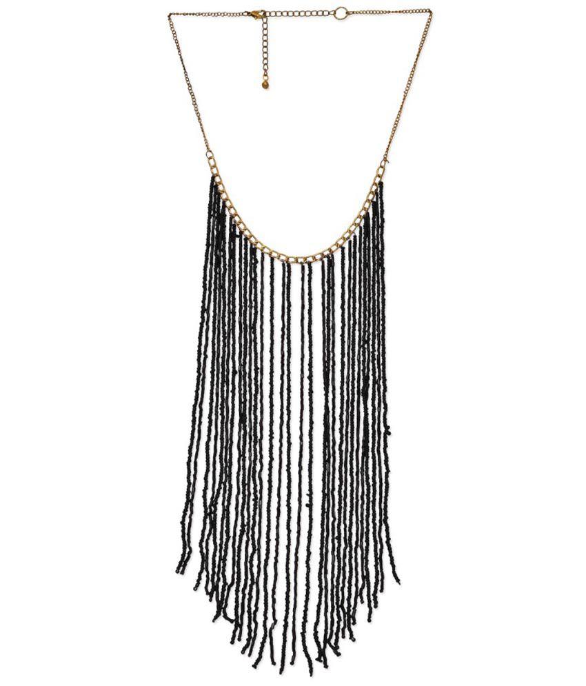 Jewel Paradise Antique Black Brass Necklace