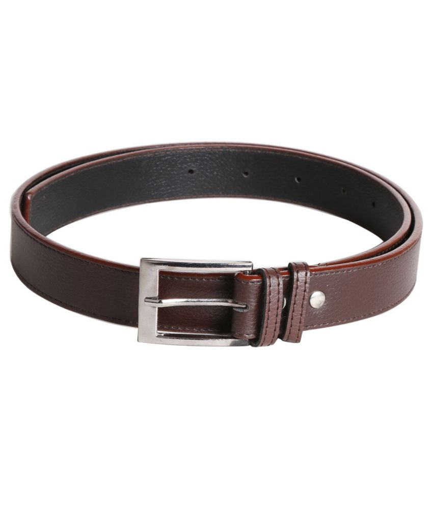 Mango People Brown Leather Formal Belt For Men