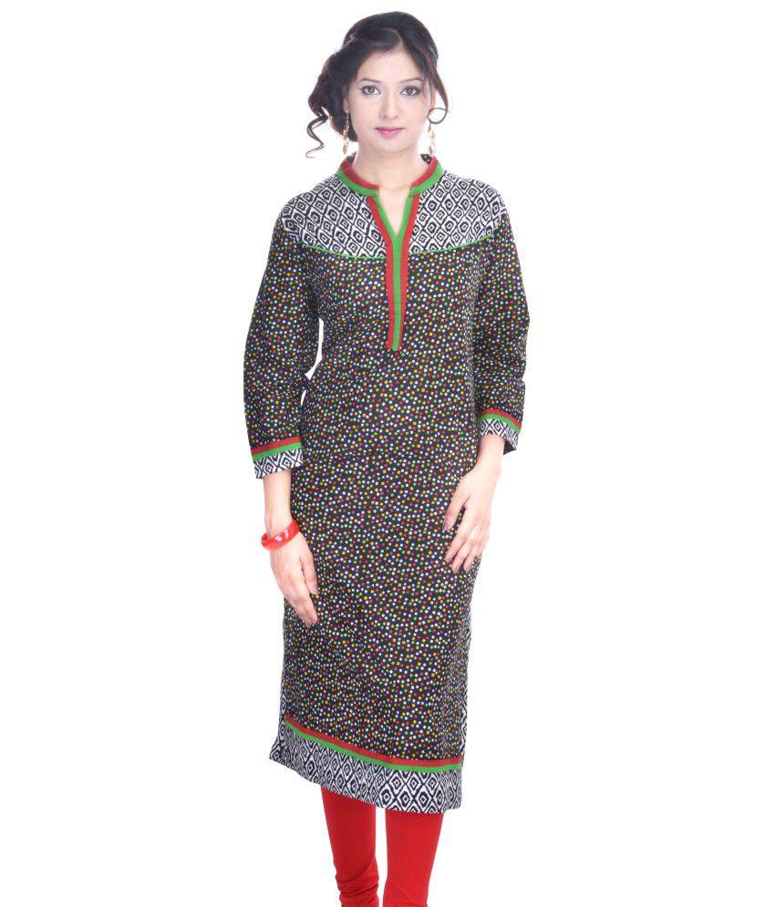 Saubhagyawatifashions Multi Color Cotton Kurti