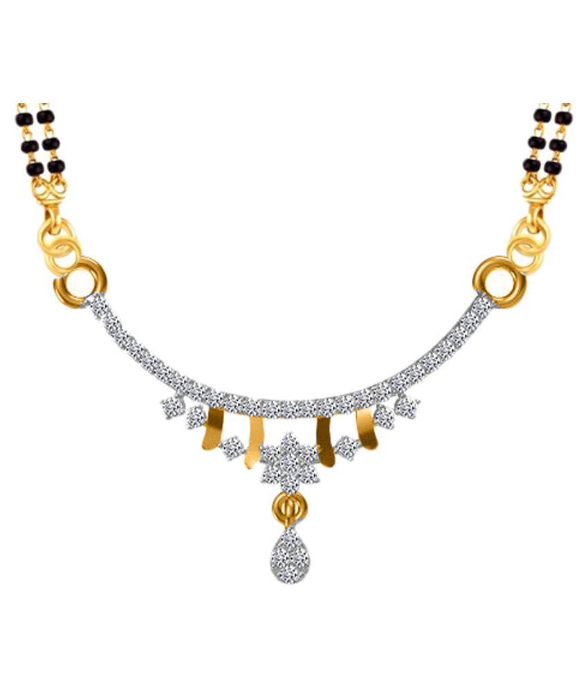 Twisha Golden Alloy Mangalsutra Pendant