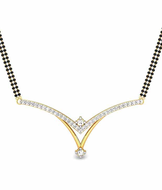 Candere Erica Mangalsutra Pendant 14K Yellow Gold