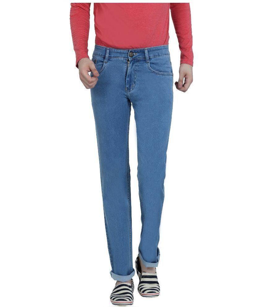 Louppee Blue Regular Fit Jeans