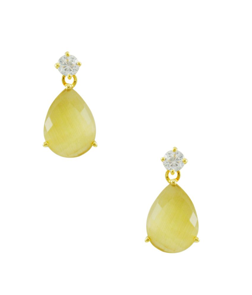 Orniza Multicolour Brass Earrings
