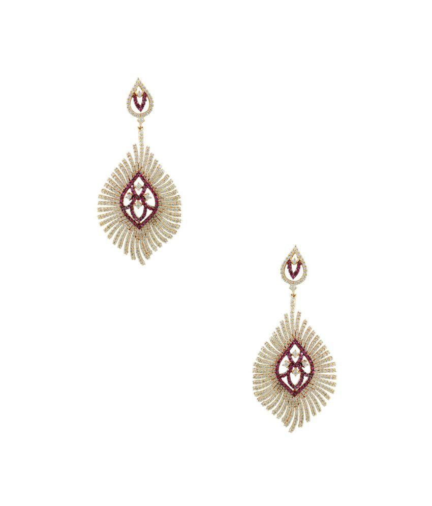 Orniza Red Brass Earrings