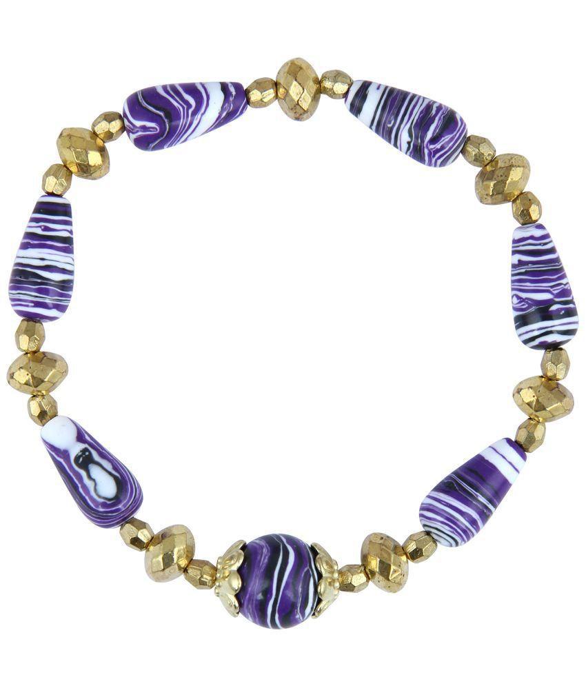 Pearlz Ocean Mosaic Beads Stretchable Bracelet