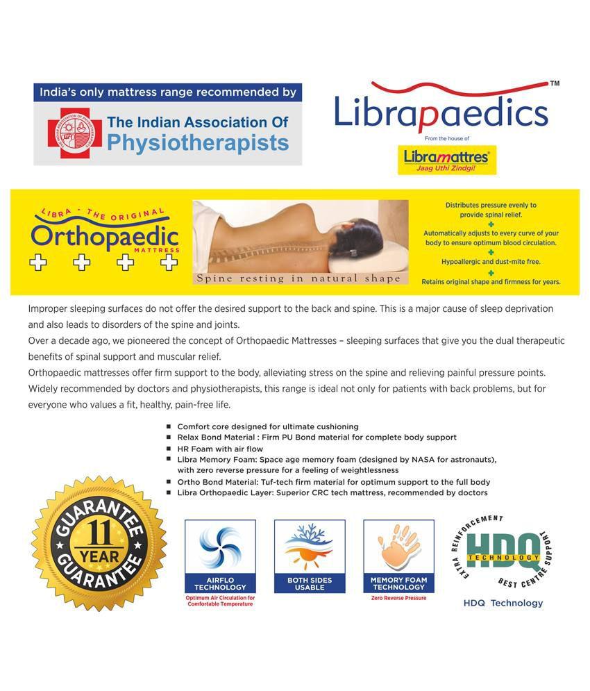 libra paedics original orthopaedic mattress beige 5 inch buy libra