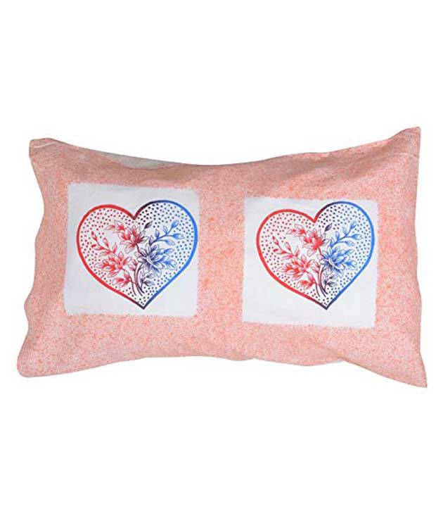 Nistha Products Beige Cotton Pillow Cover Set Of 4