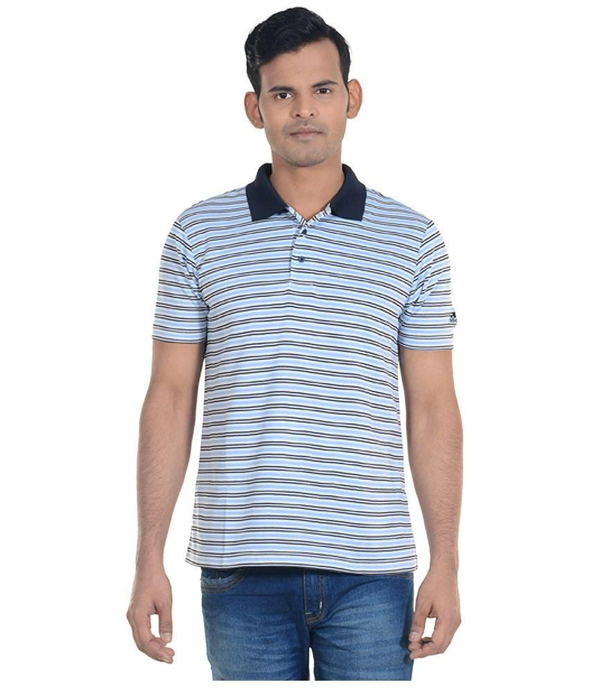Adidas Blue and Black Half Sleeves Polo T-Shirt