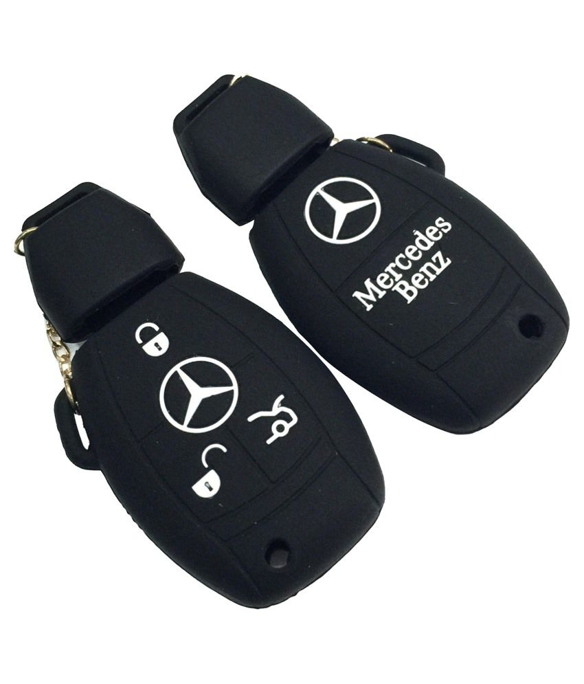 India Silicone Key Cover For Mercedes 3 Button Smart Key-black