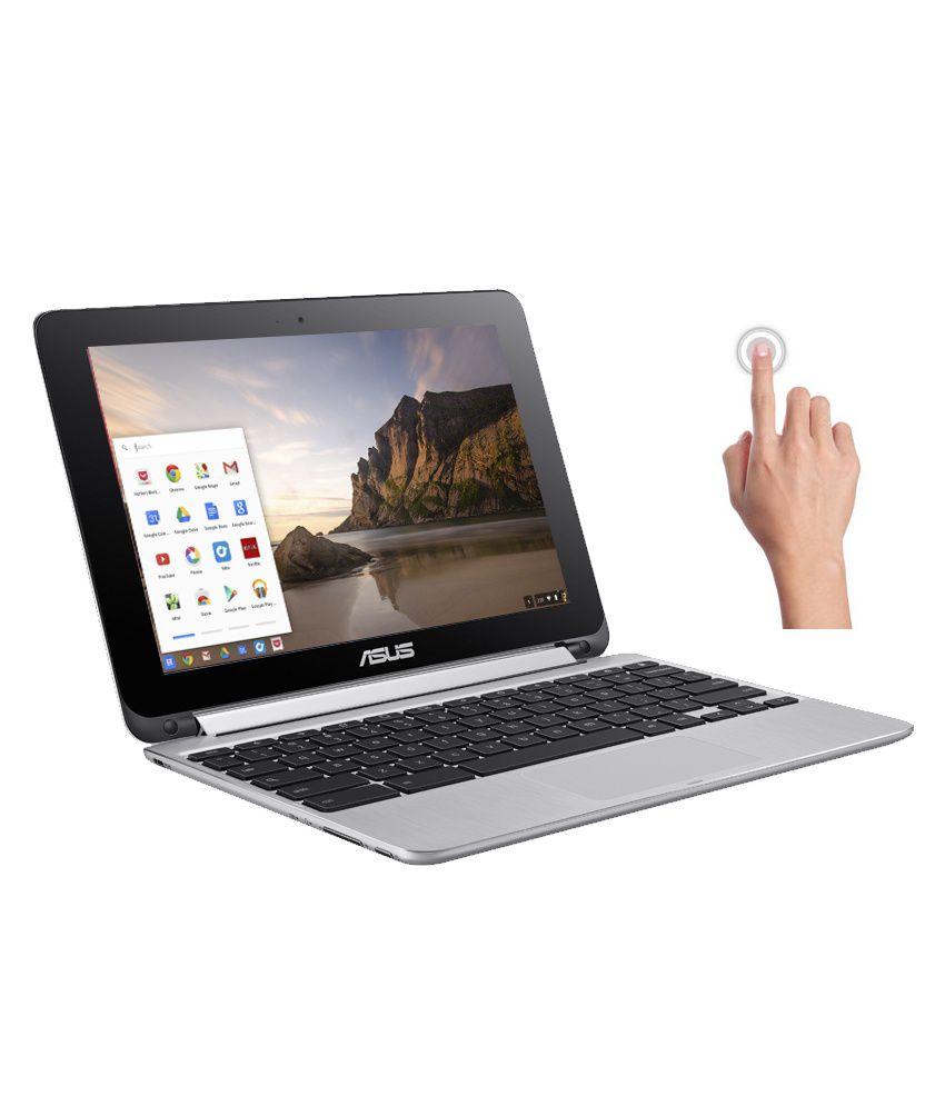 Asus C100PA-FS0001 2-in-1 Laptop (90NL0971-M00250) (Rockchip- 2 GB RAM- 16 GB eMMC- 25.65 cm (10.1) Touch- Chrome OS) (Silver)