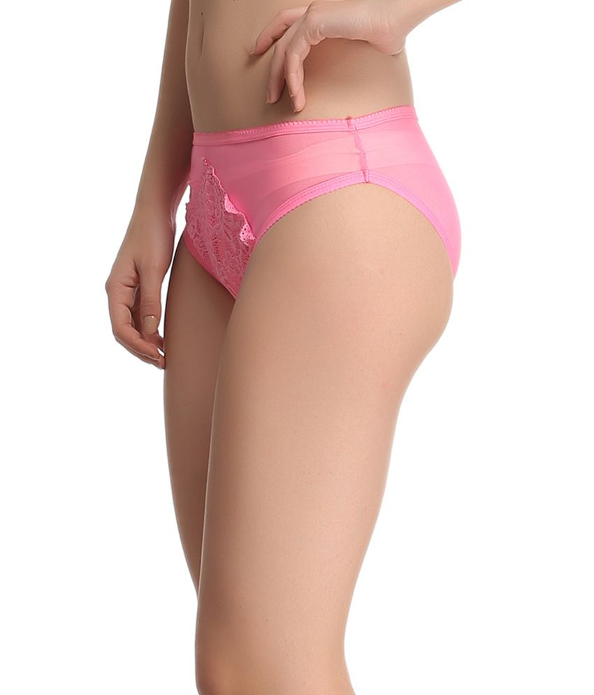 cac2d7eeb Buy Clovia Pink Lace Panties Online at Best Prices in India - Snapdeal