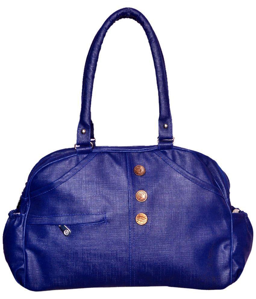 Fashion Point Purple PU Shoulder Bag