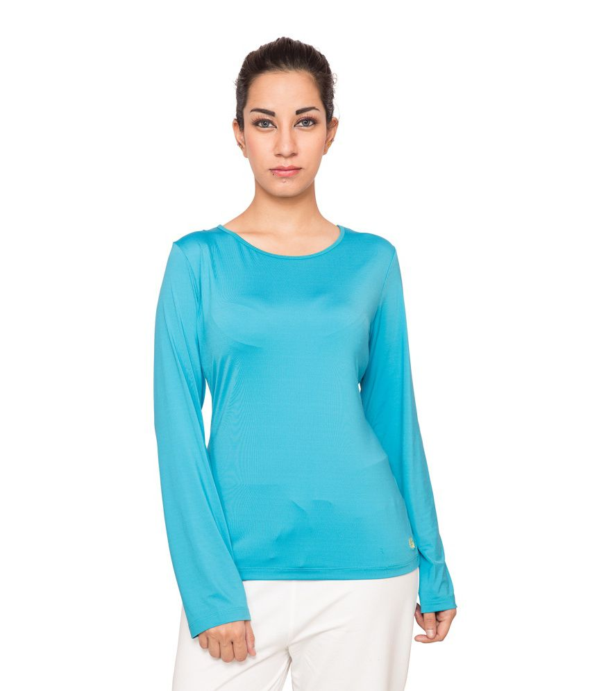 Foreveryoga Lilac Performance Full Sleeve Tee - Blue