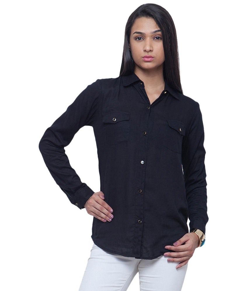11f697ff0eb Buy Faballey Black Rayon Shirts Online at Best Prices in India - Snapdeal