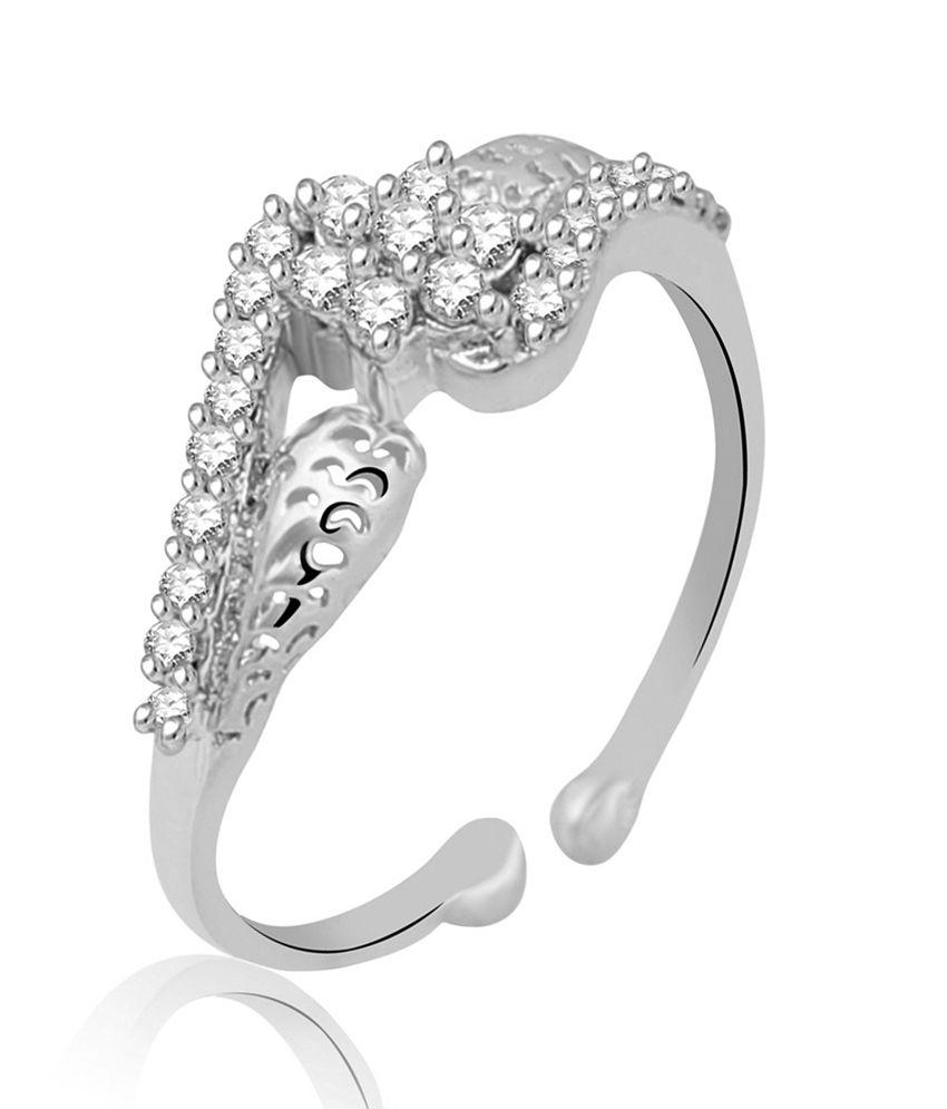 Jewelscart Silver Brass Ring