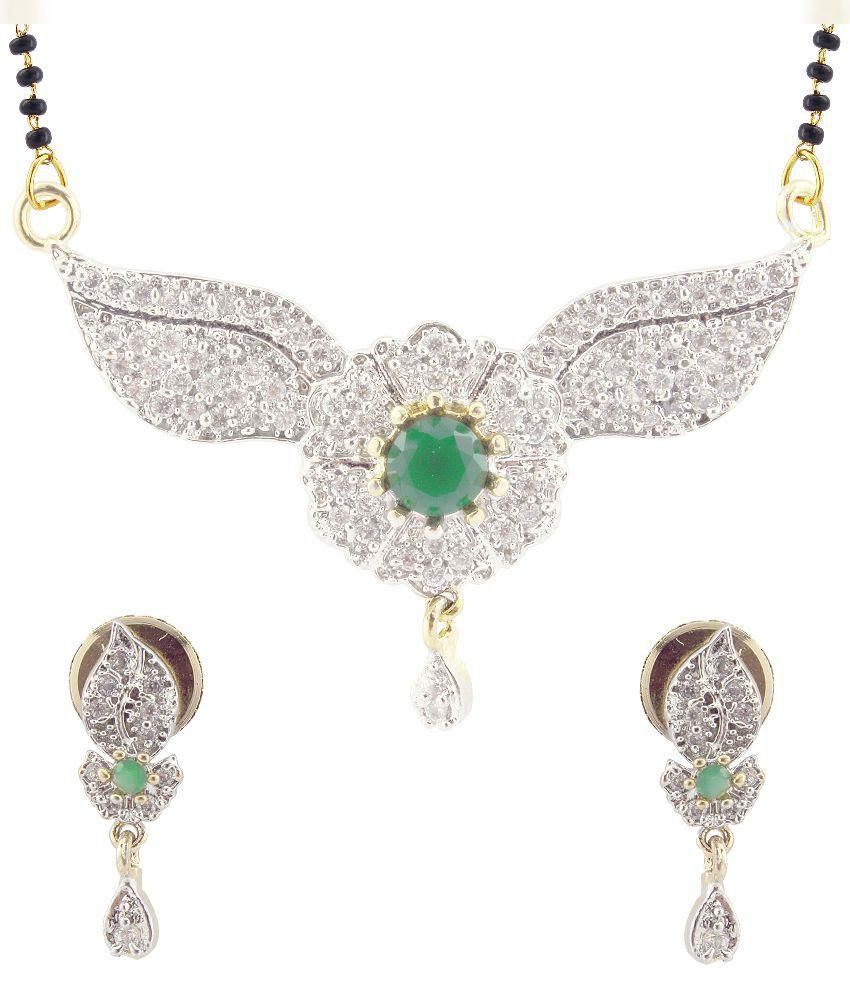 Stutti Fashion American Diamond Alloy Mangalsutra Set