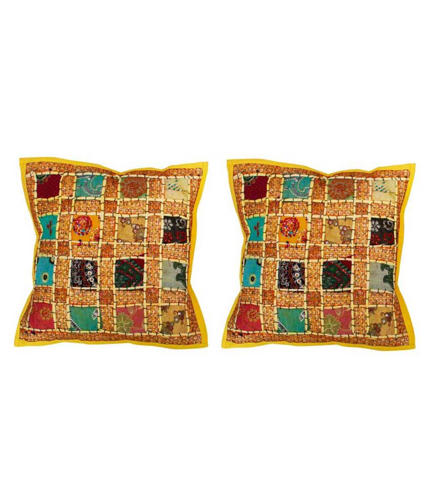 Bigcart Multicolour Printed Cotton Cushion Cover Set Of 2
