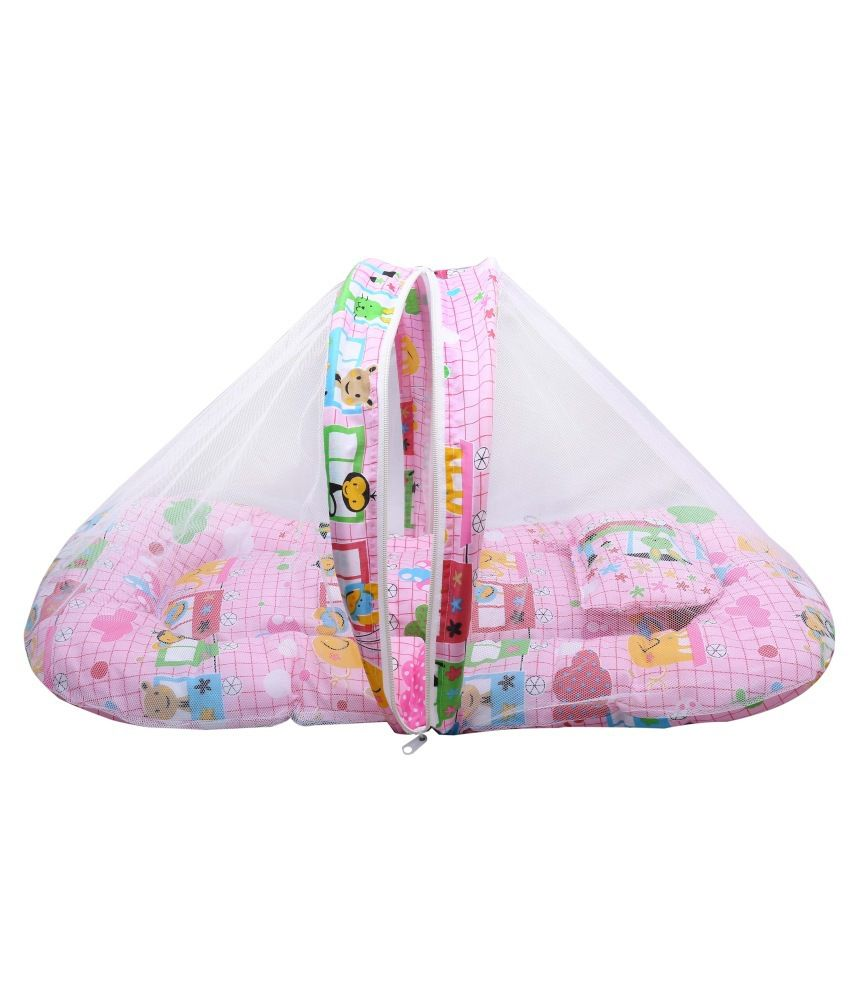 Eshelle Pink Recron Baby Bed With Net