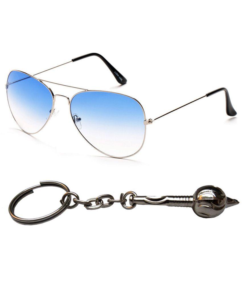 Apki Needs Metal Combo Of Key Chain & Sunglasses