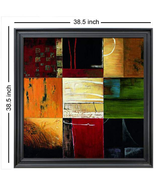 Elegant Arts And Frames Textured Compartments Painting