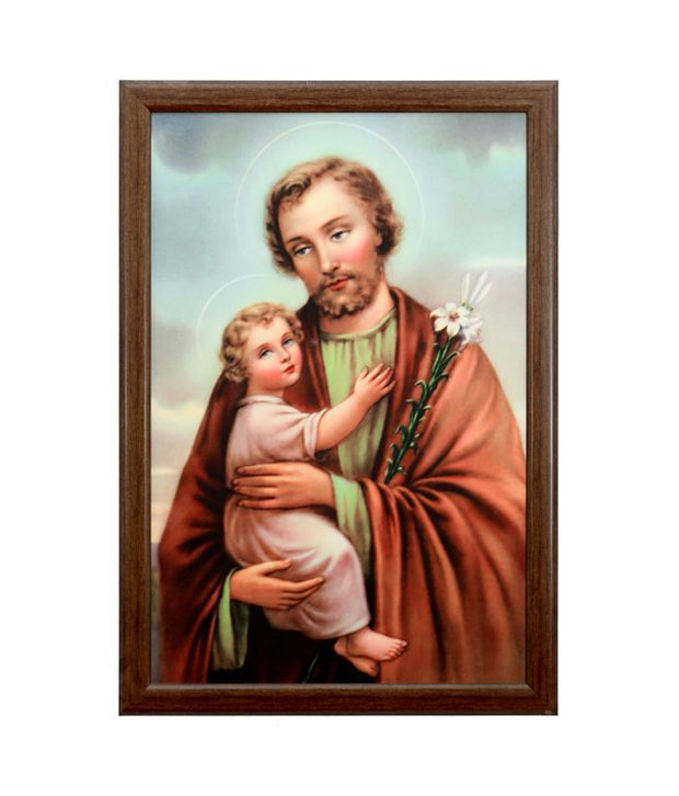 Elegant Arts And Frames Textured St. Joseph Painting