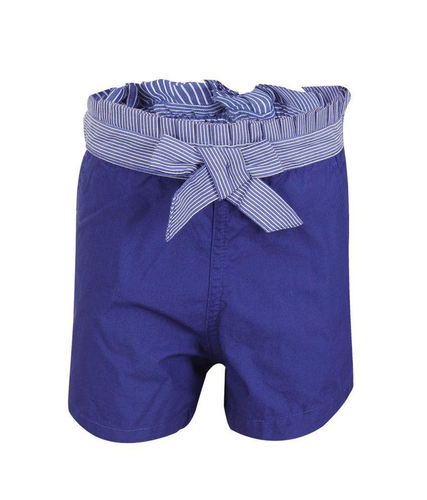 Miss Alibi Blue Cotton Shorts