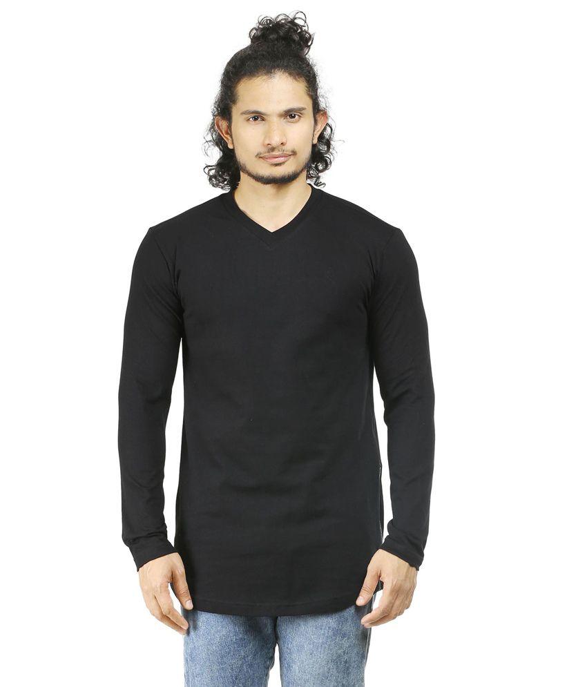 Oviyon Black Cotton T-shirt